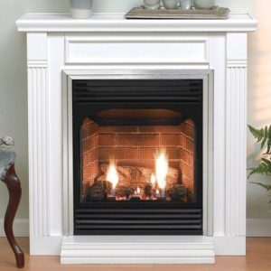 ventless or vent free fireplace.