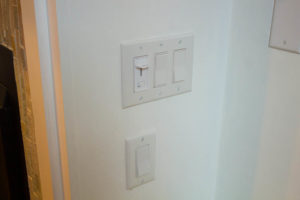 Fireplace with a switch