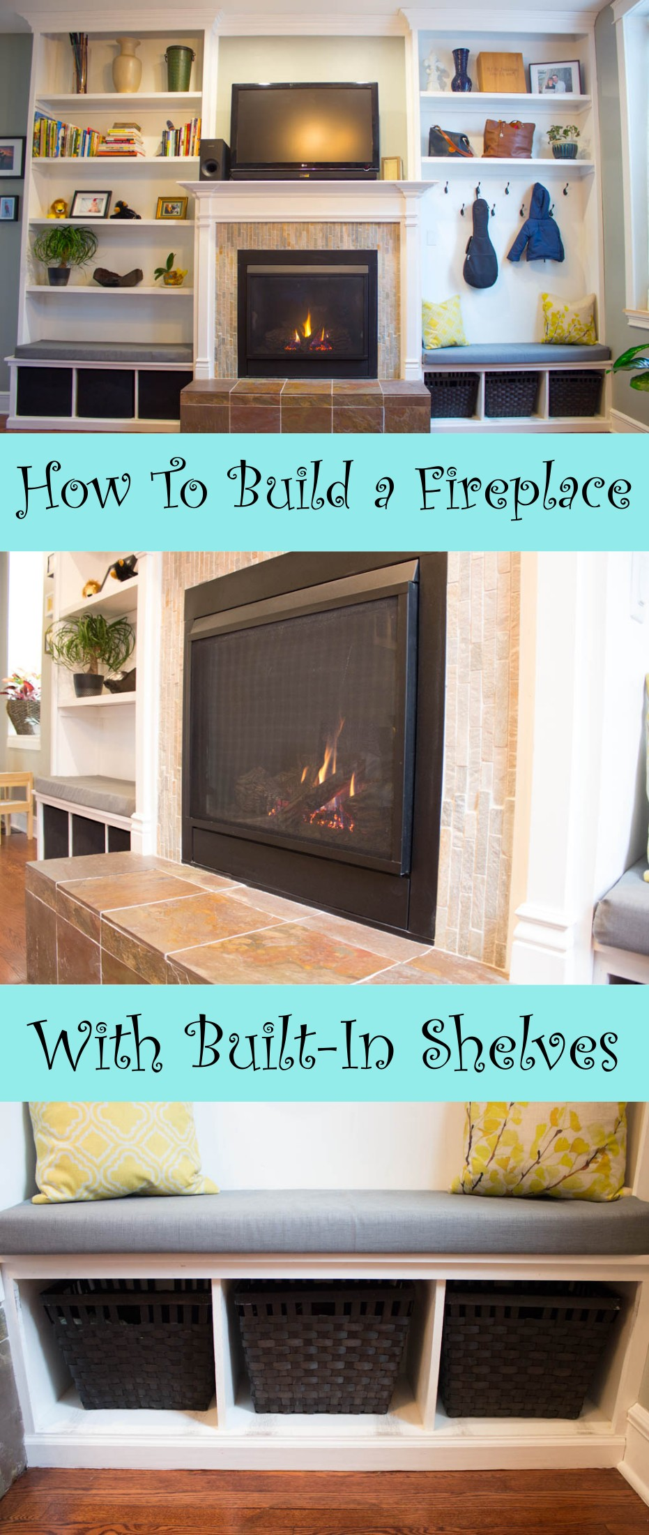 diy fireplace and built ins turn 2 000 into 10 000 of home